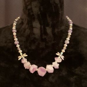 Jewelry - Genuine Amethyst and Bead Accented Necklace